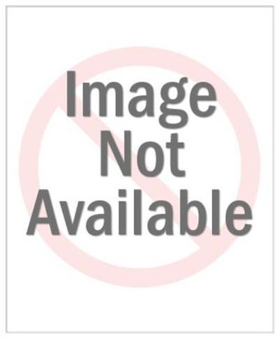 Man Presenting Giant Key-Pop Ink - CSA Images-Art Print