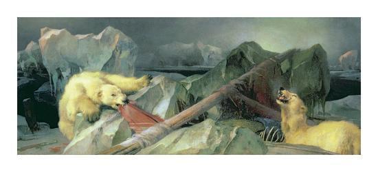 Man Proposes, God Disposes-Edwin Henry Landseer-Premium Giclee Print