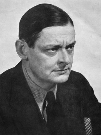 TS Eliot, American-born British poet dramatist and critic, c1950s.Artist: Man Ray