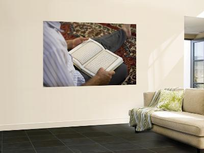 Man Reading Quran, Umayyad Mosque-Holger Leue-Wall Mural