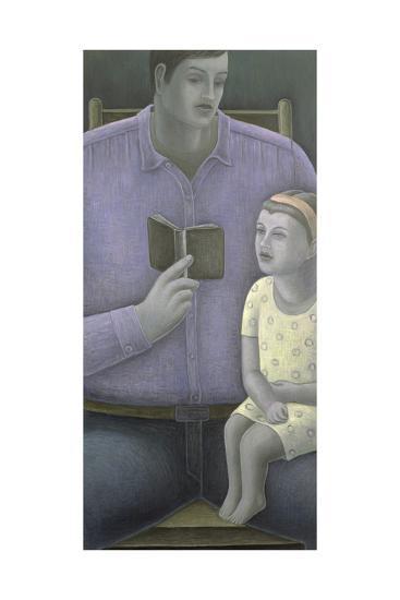 Man Reading to Girl, 2003-Ruth Addinall-Giclee Print