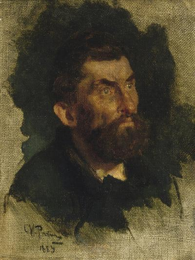 Man's Head, Study for Ivan the Terrible-Ilya Efimovich Repin-Giclee Print