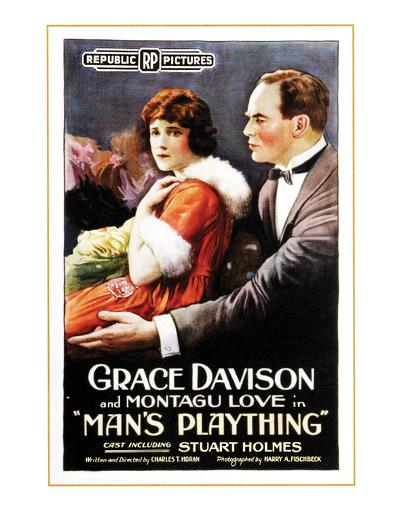 Man's Plaything - 1920--Giclee Print