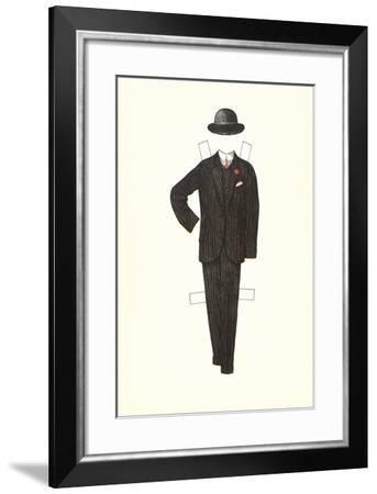 Man's Suit Paper Doll, 1910s--Framed Art Print