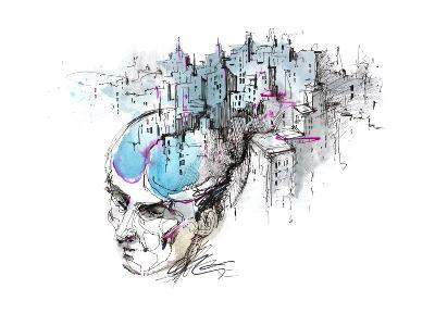 Man's Thoughts-okalinichenko-Art Print