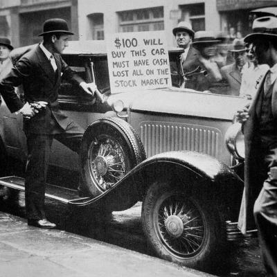Man Selling His Car, Following the Wall Street Crash of 1929, 1929--Photographic Print
