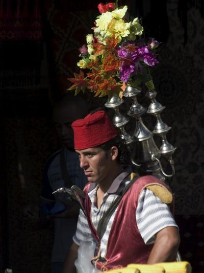 Man Selling Tea in Traditional Costume, Old Walled City, Jerusalem, Israel, Middle East-Christian Kober-Photographic Print