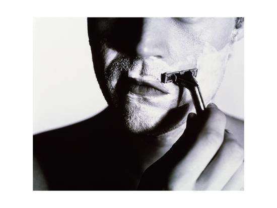 Man Shaving-Mauro Fermariello-Giclee Print