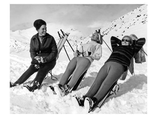 Man Skier-Underwood-Giclee Print