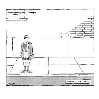 Man standing on street corner, pantsless. - New Yorker Cartoon-Jack Ziegler-Premium Giclee Print