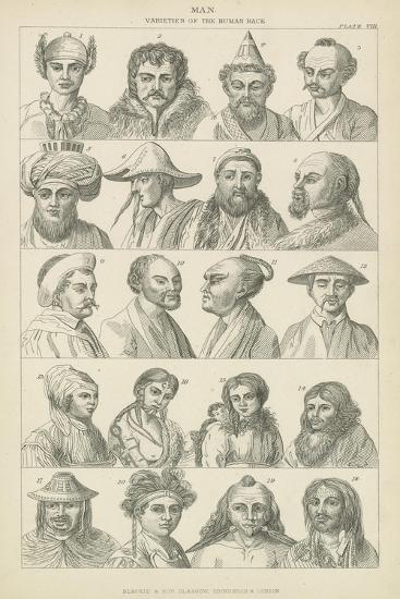 Man, Varieties of the Human Race--Giclee Print