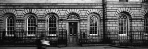Man Walking in Front of a Library, Signet Library, Parliament Square, Edinburgh, Scotland