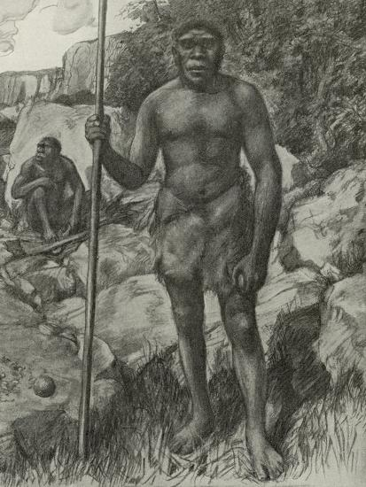 Man Whose Skull Was Discovered in Rhodesia in 1921--Giclee Print