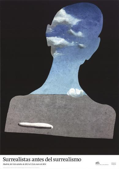 Man with a Head Full of Clouds-Salvador Dali-Art Print