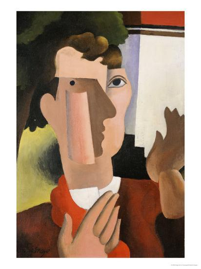 Man with a Red Scarf, 1922-Roger de La Fresnaye-Giclee Print