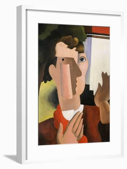 Man with a Red Scarf, 1922-Roger de La Fresnaye-Framed Giclee Print