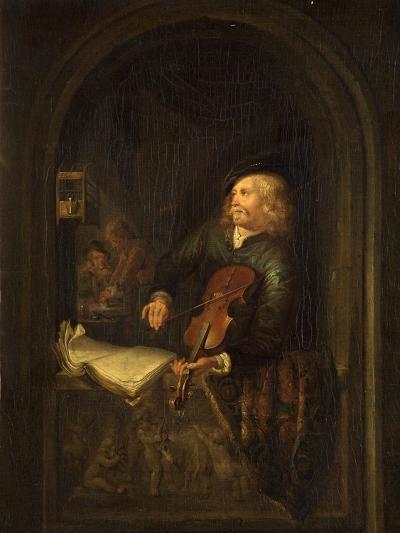 Man with a Violin-Gerrit or Gerard Dou-Giclee Print