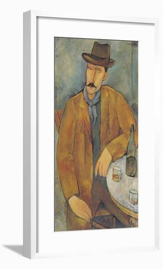 Man with a Wine Glass-Amedeo Modigliani-Framed Giclee Print