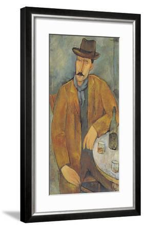 Man with a Wine Glass-Amedeo Modigliani-Framed Giclee Print