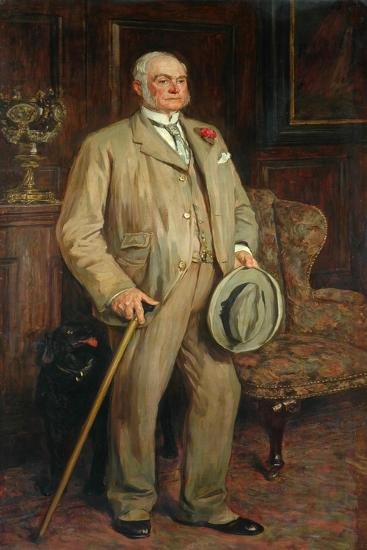 Man with Dog (Possibly Arthur Godwin)-James Charles-Giclee Print