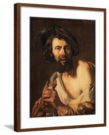 Man with Flute, 1625-Dutch School-Framed Giclee Print