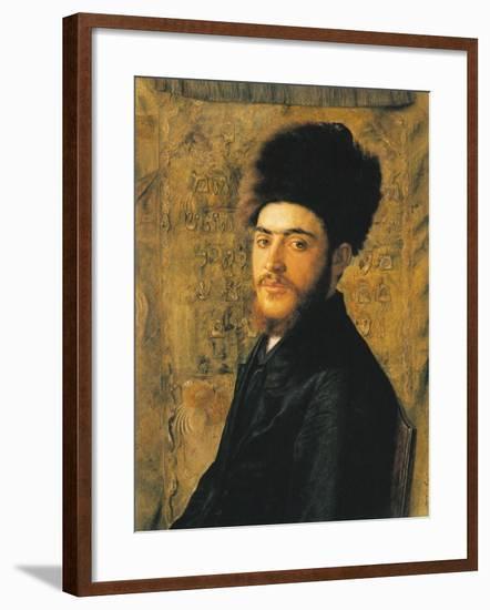 Man with Fur Hat-Isidor Kaufmann-Framed Art Print