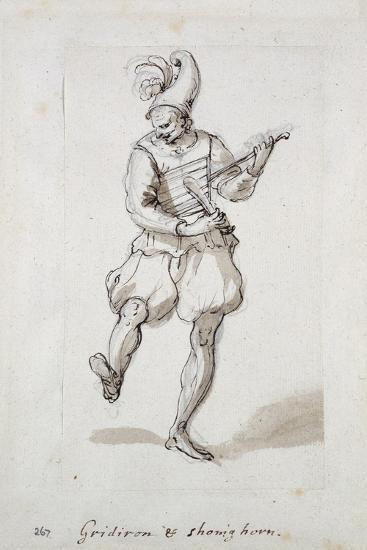 Man with Gridiron and Shoe Horn-Inigo Jones-Giclee Print