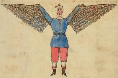 Man with Wings Attached to Tunic--Giclee Print