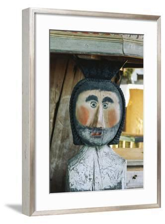 Man, Wood Carving, Petjavesi Wooden Church (Unesco World Heritage Site, 1994), Finland--Framed Photographic Print