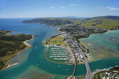 Mana Marina and Porirua Harbour, Wellington, North Island, New Zealand-David Wall-Photographic Print