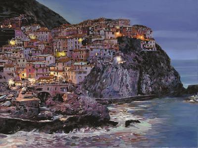 Manarola at Dusk-Guido Borelli-Giclee Print