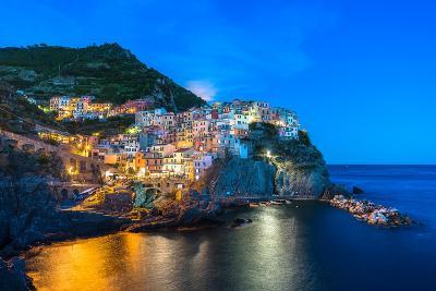 Manarola, Cinque Terre at Twilight-Fadi Al-Barghouthy-Photographic Print
