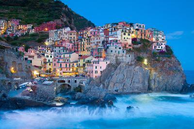 Manarola Fisherman Village in Cinque Terre, Italy-kasto-Photographic Print
