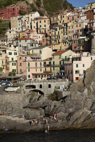Manarola, One of Five Towns in the Cinque Terre in Northern Italy-Scott S^ Warren-Photographic Print