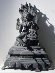 Manasa, Goddess of Snakes, Sculpture from Bengal, India