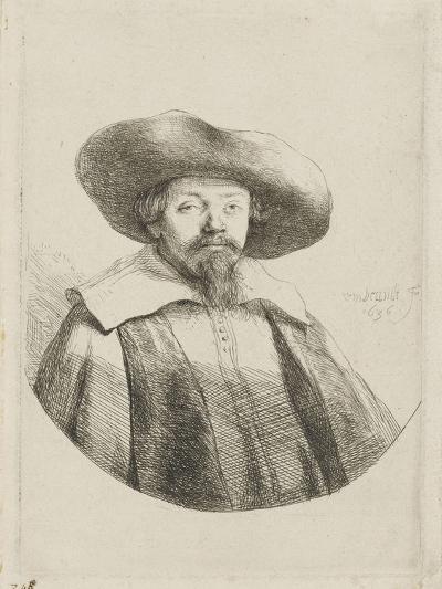 Manasseh ben Israël-Rembrandt van Rijn-Giclee Print