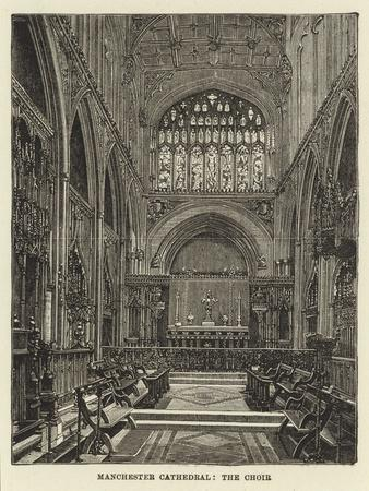 Manchester Cathedral, the Choir--Giclee Print