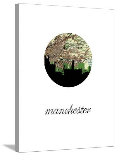 Manchester Map Skyline-Paperfinch 0-Stretched Canvas Print