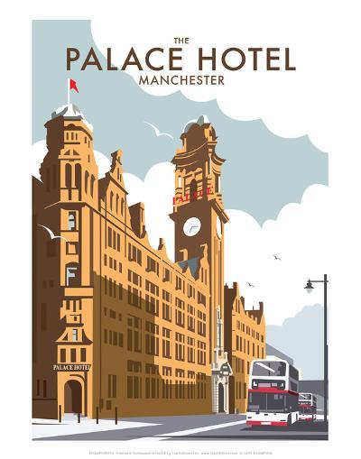 Manchester Palace Hotel - Dave Thompson Contemporary Travel Print-Dave Thompson-Art Print