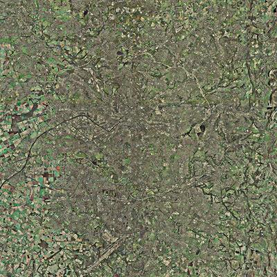 Manchester, UK, Aerial Image-Getmapping Plc-Photographic Print