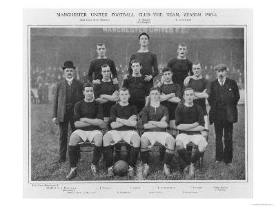 Manchester United Fc the Modern Day All Conquering Side Looking Not So Invincible in 1905--Giclee Print