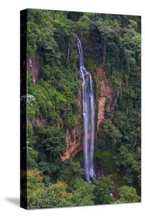 Manchewe Falls Near Livingstonia, Malawi, Africa-Michael Runkel-Stretched Canvas Print