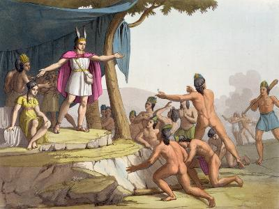 Manco Capac and Queen Mama Ocllo Gather the Savages, C.1820--Giclee Print