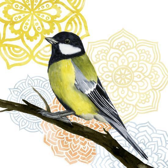 Mandala Bird III-Grace Popp-Art Print