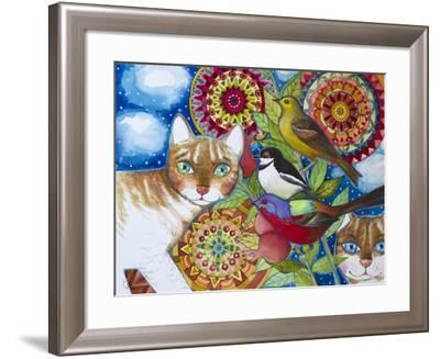 Mandala Cats-Oxana Zaika-Framed Giclee Print