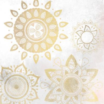Mandala Golden 1-Kimberly Allen-Art Print
