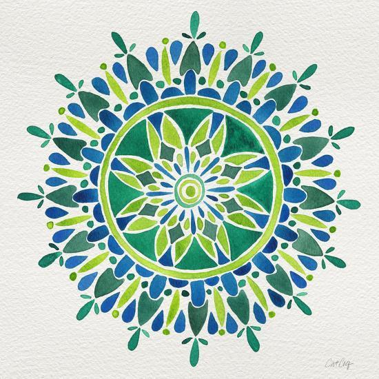 Mandala in Green-Cat Coquillette-Giclee Print