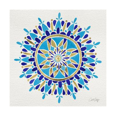 Mandala in Navy and Gold– Cat Coquillette-Cat Coquillette-Giclee Print