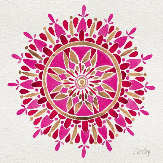 Mandala in Pink and Gold-Cat Coquillette-Giclee Print