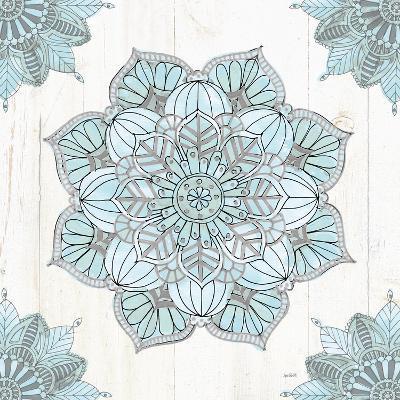 Mandala Morning V Blue and Gray-Anne Tavoletti-Art Print